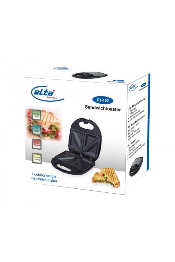 Нов Сандвич тостер от неръждаема стомана Elta ST-102