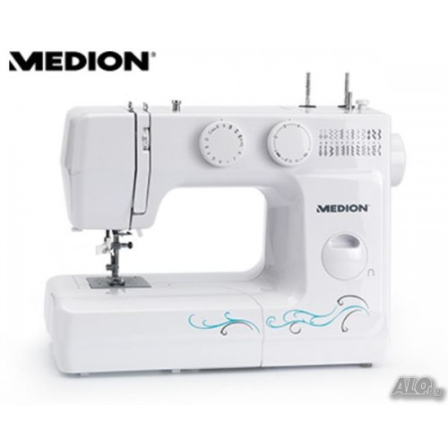 Нова Шевна машина Мedion MD 17329, 60 W, 750 бримки/минута, Бяла