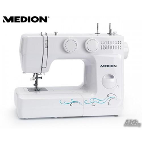 Нова Шевна машина Мedion MD 17329, 60 W, 750 бримки/минута, Бяла